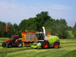 claas 960 in bocht